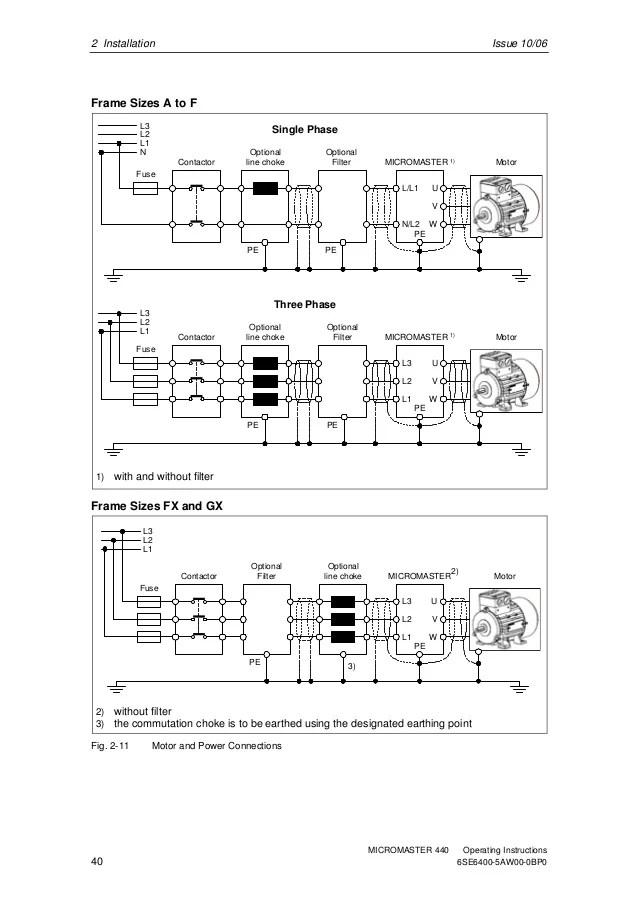Siemens Micromaster 440 Connection Diagram  Somurich