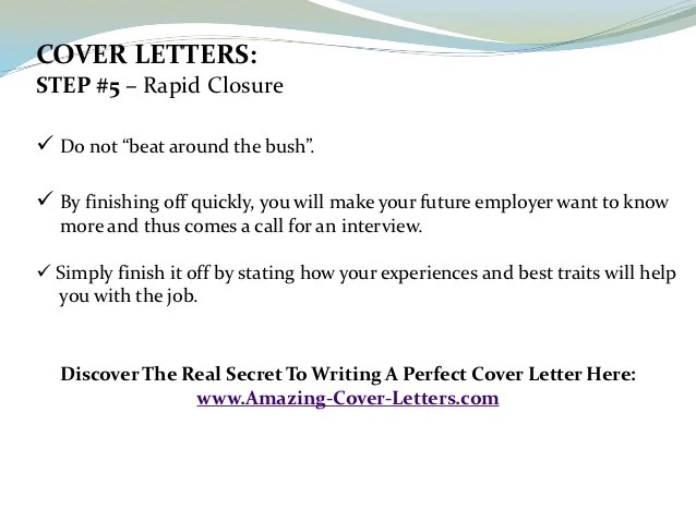 Simple Cover Letter For Resume