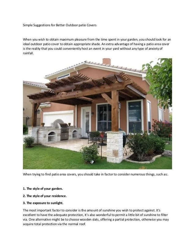 better outdoor patio covers