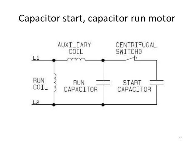 Capacitor Start Capacitor Run Motor Diagram  impremedia