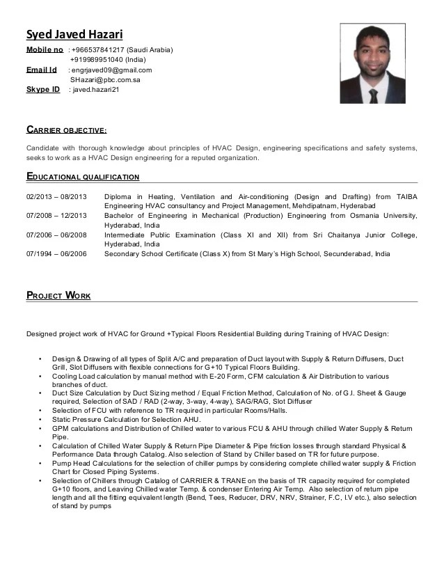 hvac technician resume sample resumecompanioncom design engineer