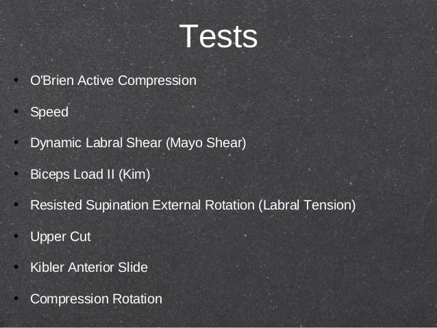 Shoulder Test Obriens