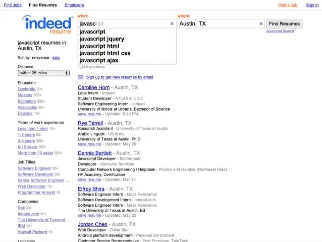 basics slicing and dicing indeed s resume search by indeed resume