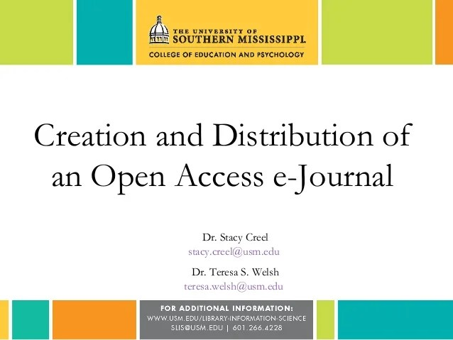 Creation and Distribution of an Open-Access e-Journal