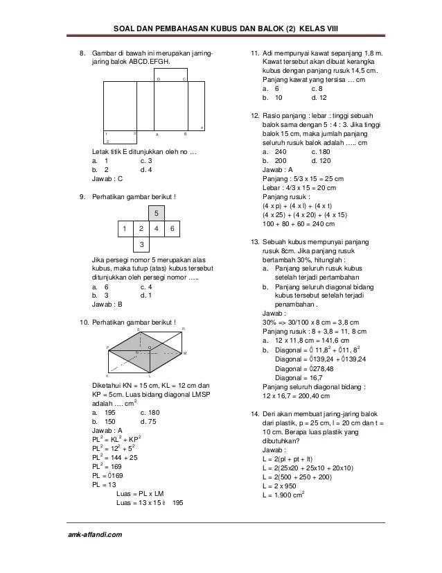 Contoh Soal Jaring-jaring Kubus Dan Balok Kelas 5 Sd : contoh, jaring-jaring, kubus, balok, kelas, Contoh, Jaring, Kubus, Balok, Kelas, Kumpulan, Pelajaran