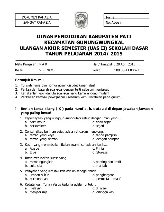 Image Result For Soal Ujian Try Out A