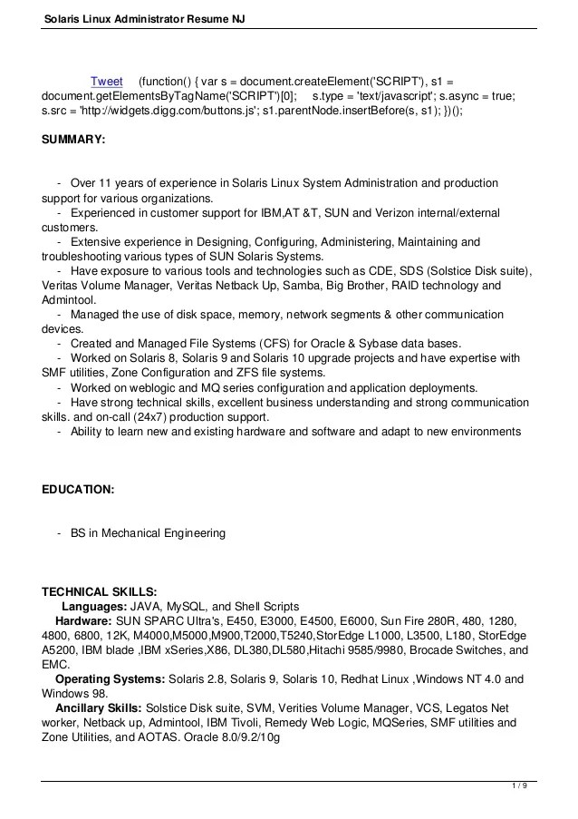 network administrator resume success