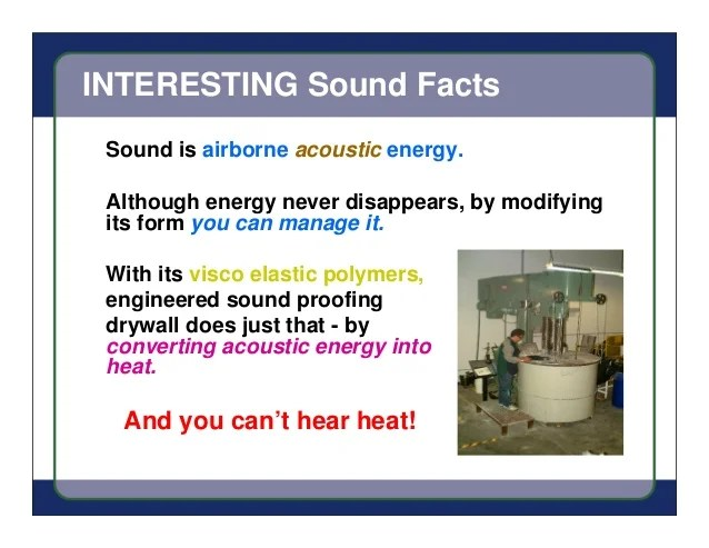 Facts About Sound