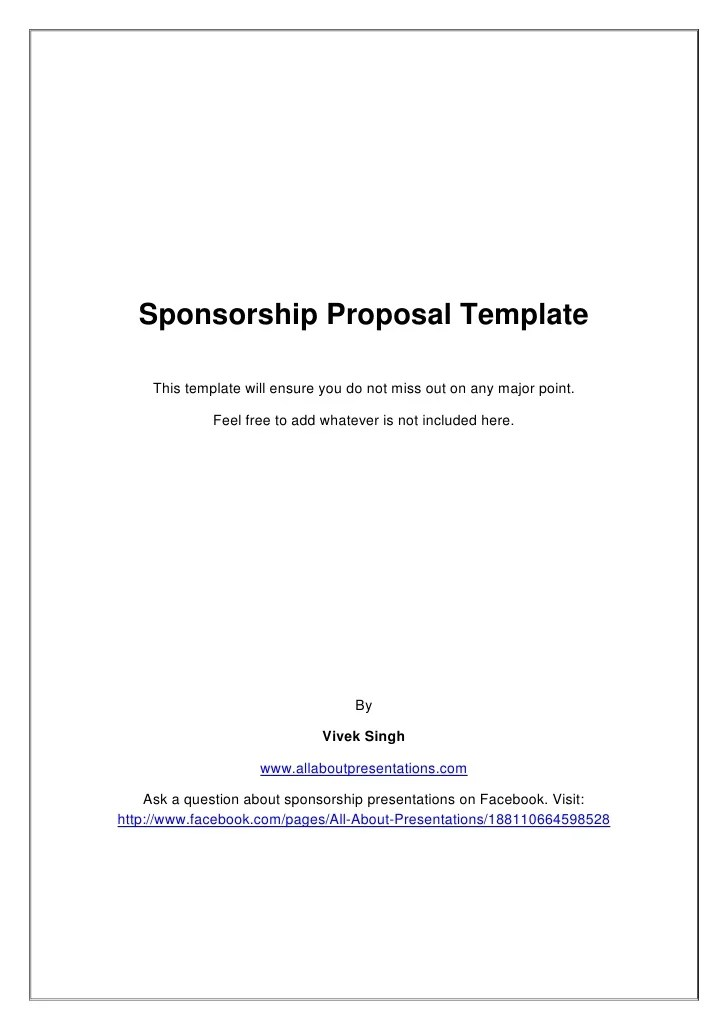 Template For Sponsorship Proposal proposal template free download – Letter of Intent for Sponsorship