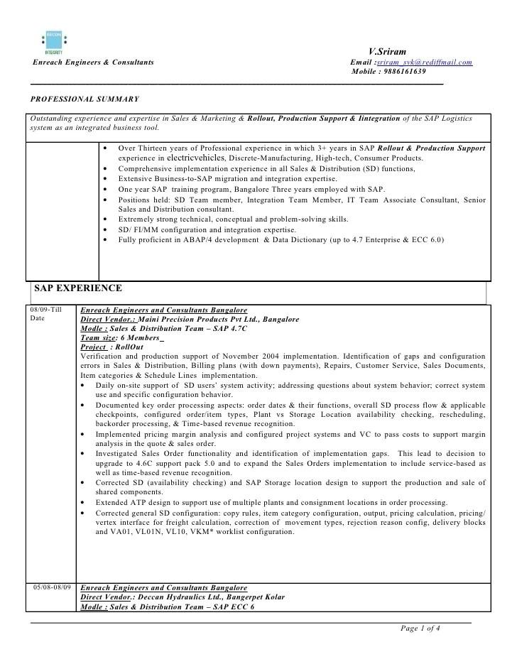 sap abap developer resume format  resume format   r    free resume     Pinterest