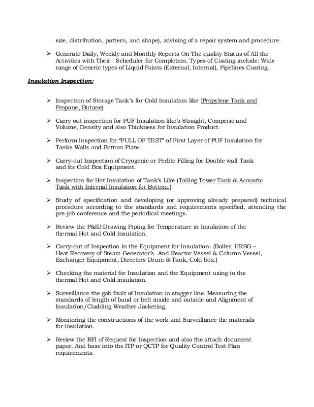 Qa Qc Civil Engineer Cv. qa manager qaqc engineer resume format qa ...