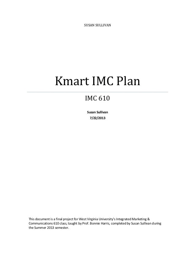 Imc Planning Process Example Essay - Essay for you
