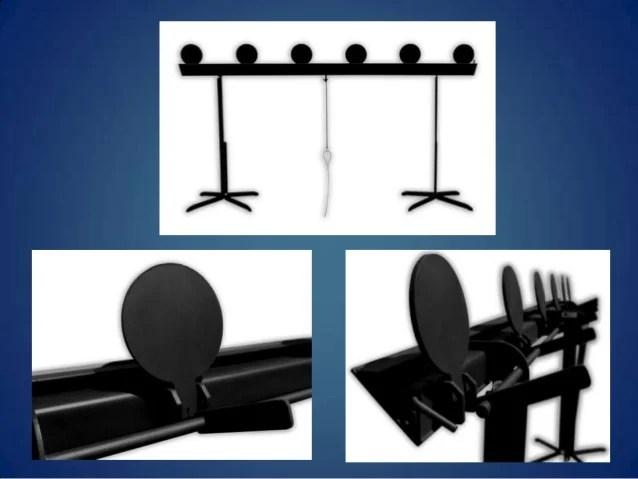 steel plate rack action target