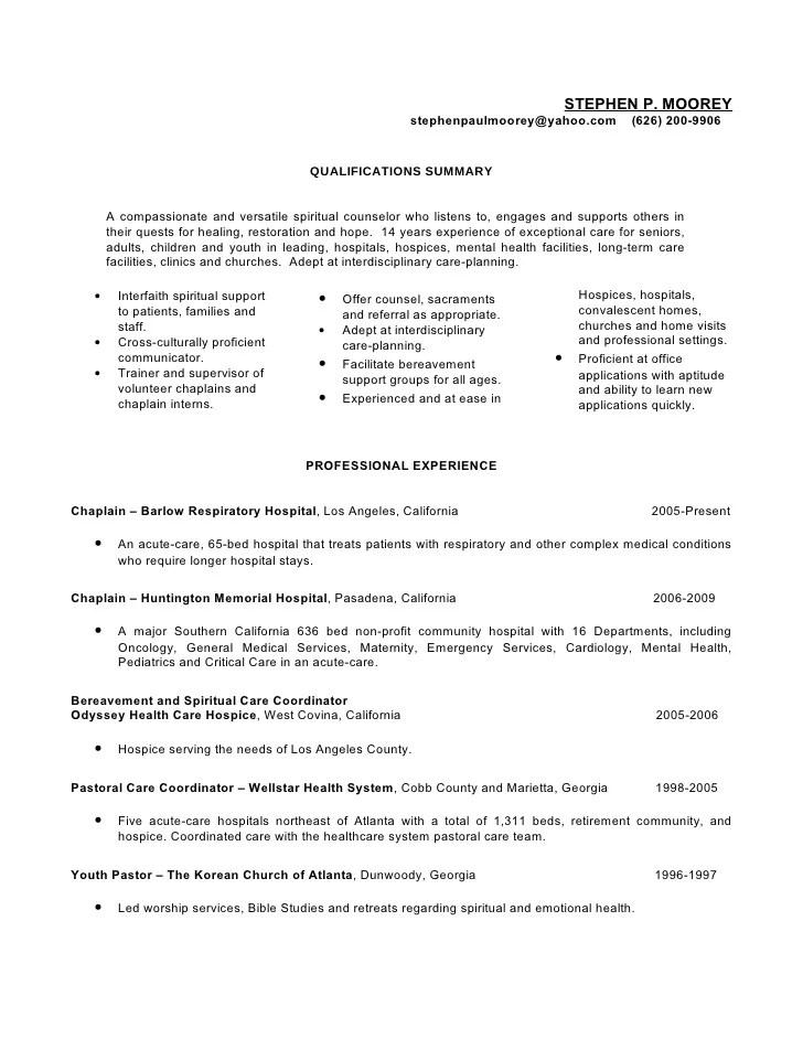 Steve Moorey Resume