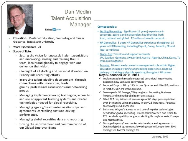 talent acquisition resume strategic talent acquisition re