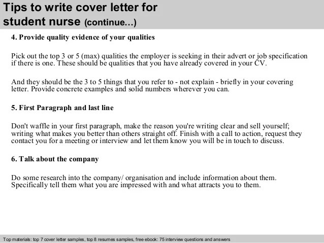 cover letters for nursing students