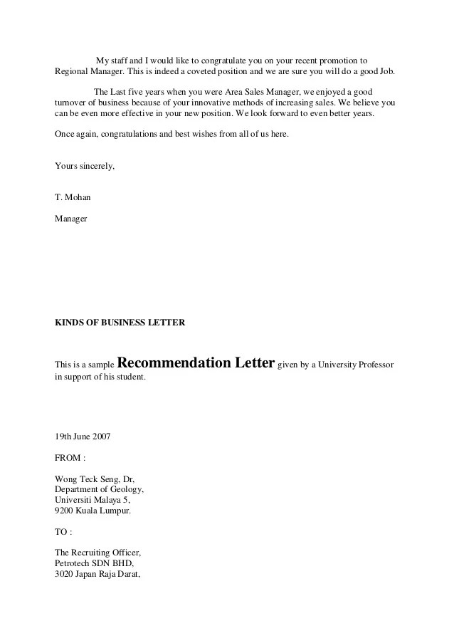 Congratulations Promotion   Jobresumepro com Recommendation Letter for Employment Promotion