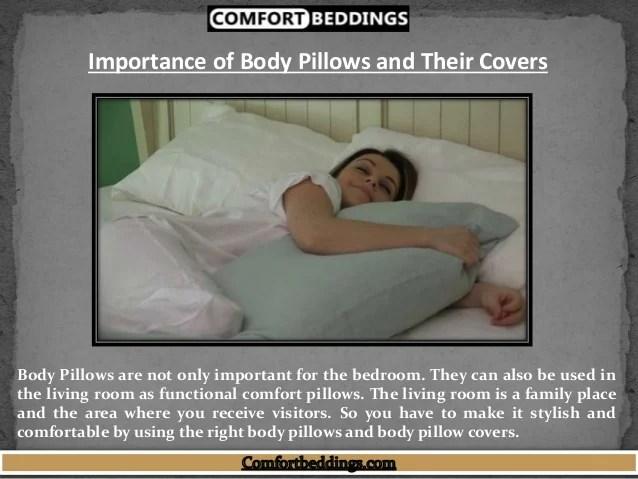 comfortable white body pillow cover