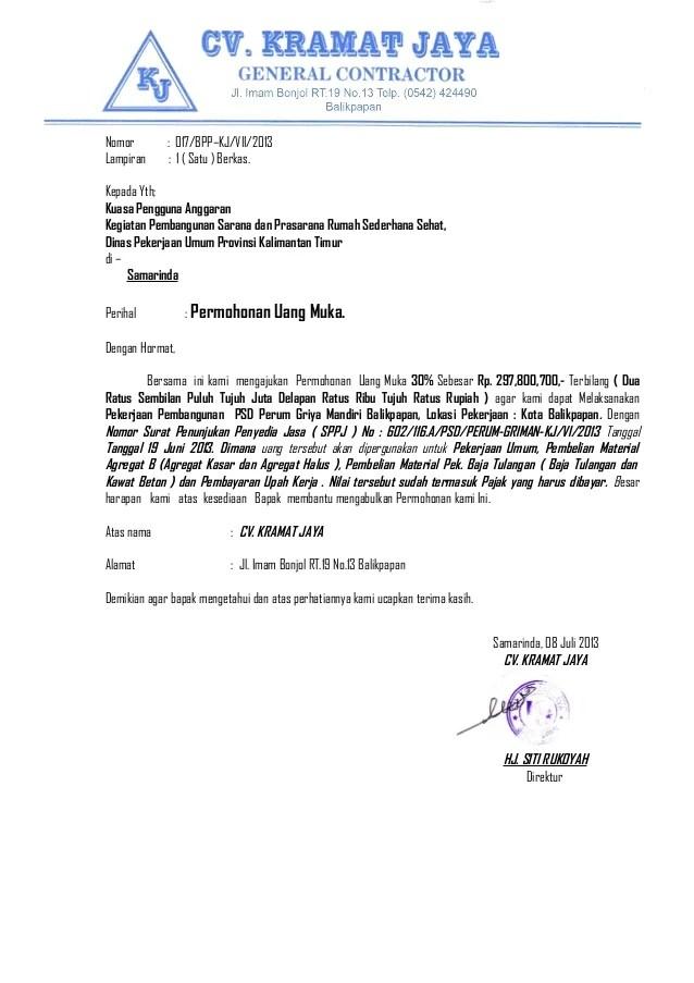 Contoh Surat Negosiasi Permintaan Backup Gambar