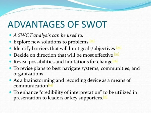 Advantages of swot analysis