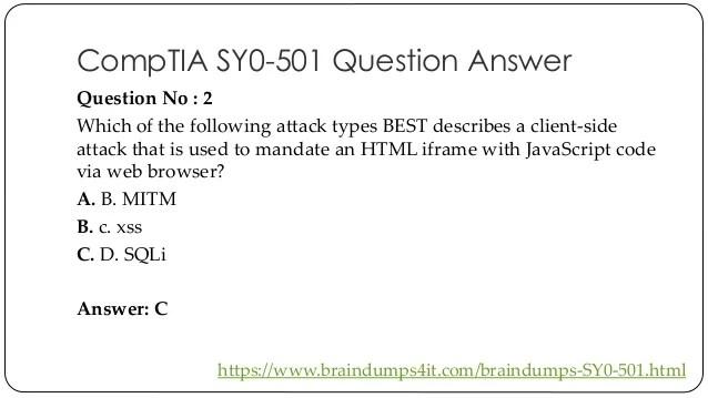 Security 501 Practice Test