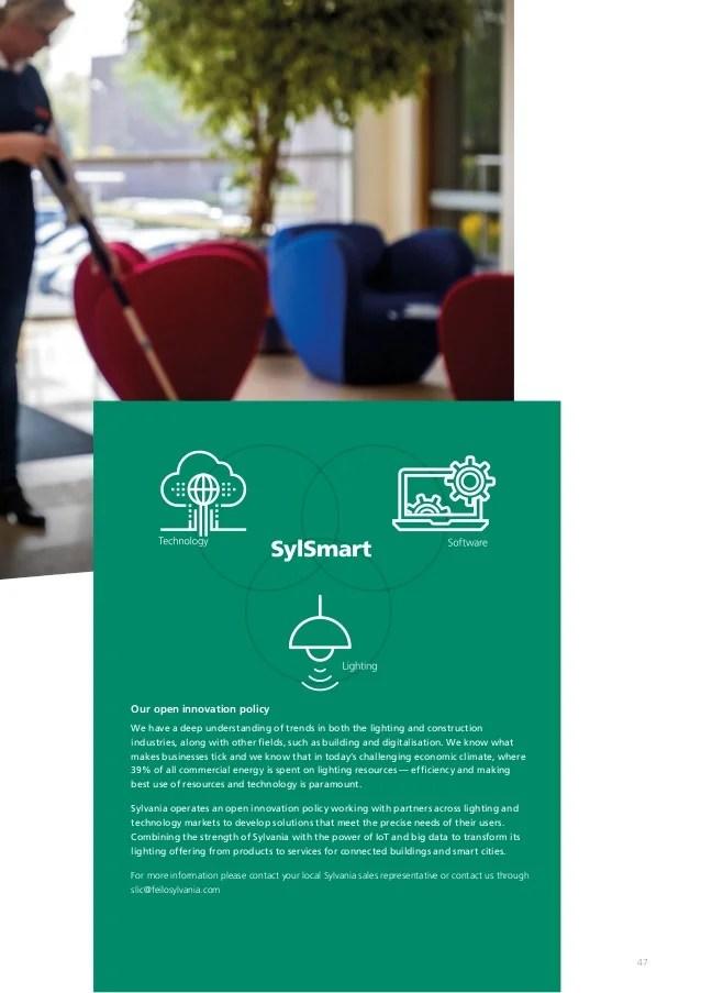 sylvania lighting sylsmart brochure