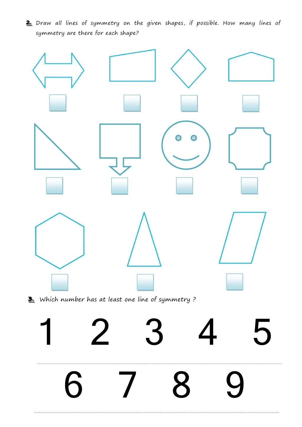 Symmetry Worksheet2