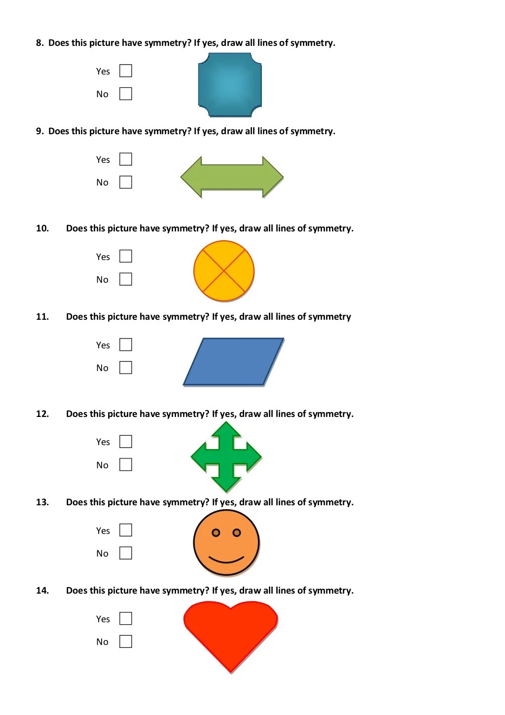 Symmetry Worksheet Poland