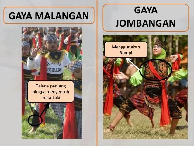 Baju tari tradisional Remo yang khas Malangan dan Jombangan