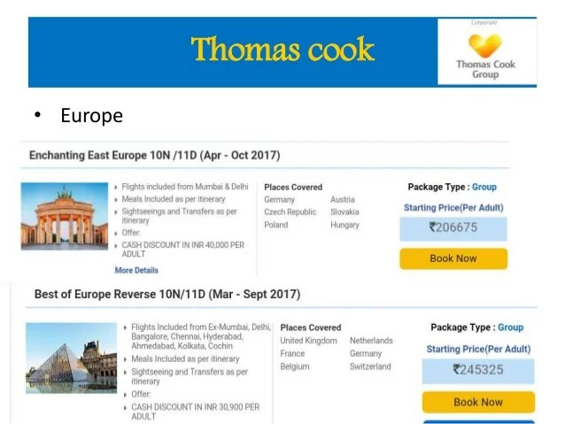 Thomas Cook Honeymoon Packages Europe