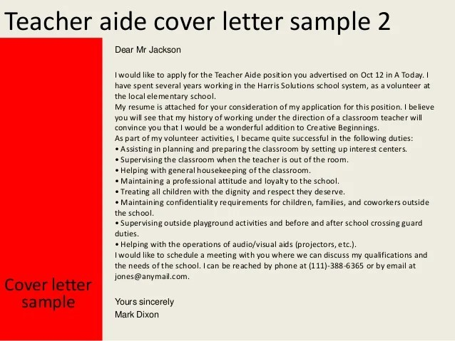 Letter Of Interest For Music Teaching Position