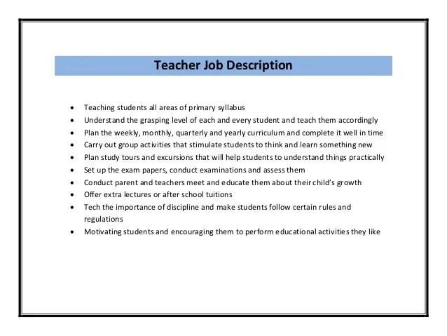 Teacher Job Resume Format Pdf for teacher job resume format for – Resume Format for Teaching Jobs
