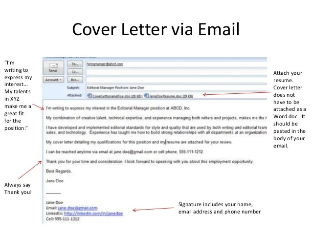 Cover Letter Email Subject Line