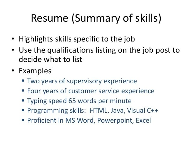 librarian skills summary of skills