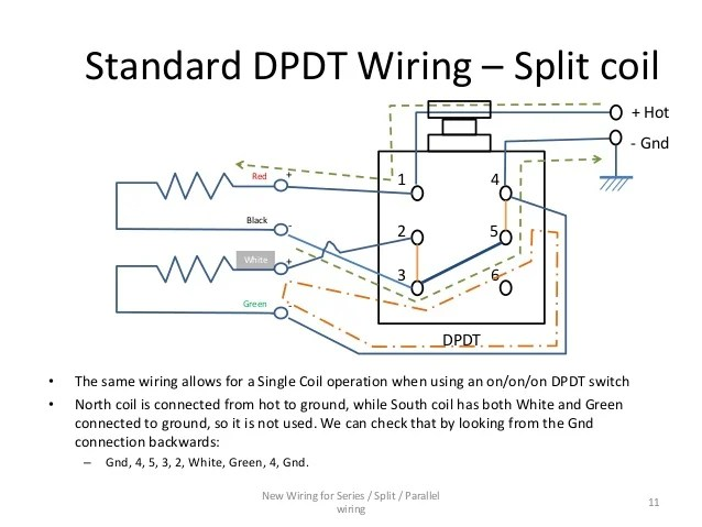 series / parallel wiring diagram for 4conductor humbucker