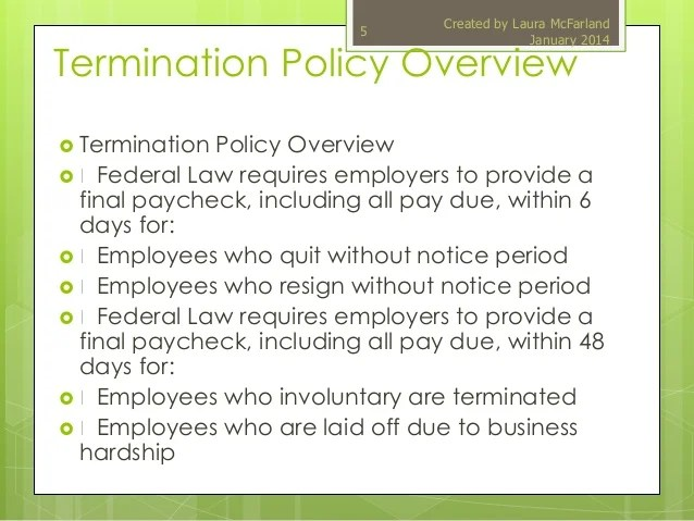 Notice Termination Business