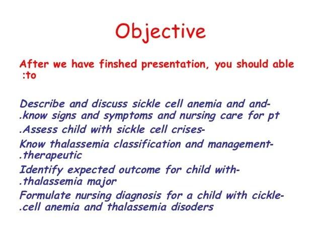 Sickle Cell Anemia Nursing Diagnosis