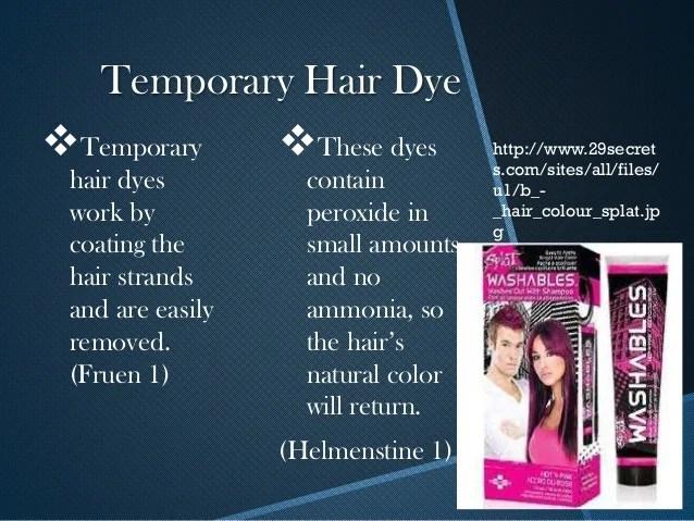 The Chemistry Of Hair Dye Presentation