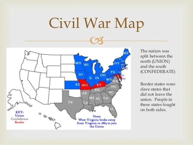 border states civil war north and south