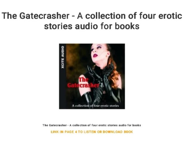 The Gatecrasher A Collection Of Four Erotic Stories Audio For Books The Gatecrasher A
