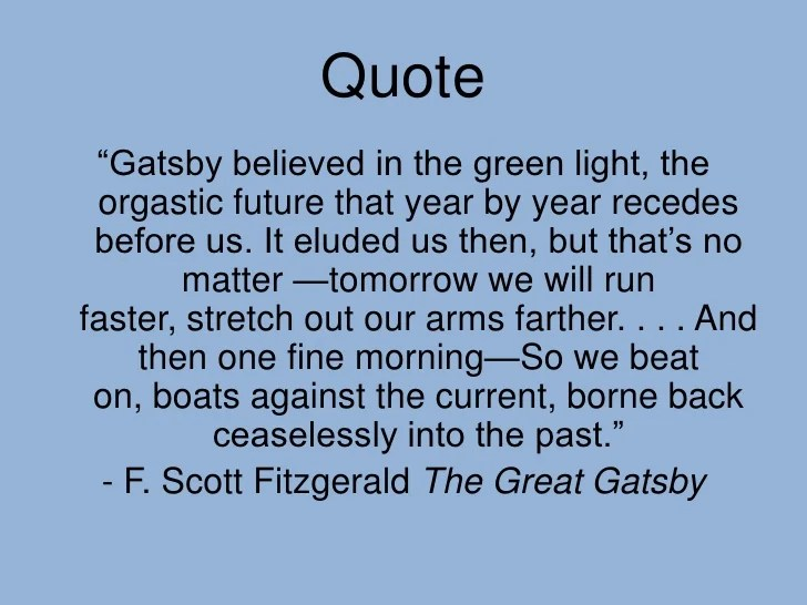 The Great Gatsby Symbolism Quotes