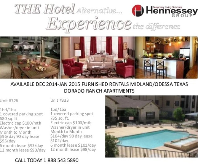 Available Dec  Furnished Rentals Midland Odessa Texas Unit  Bd