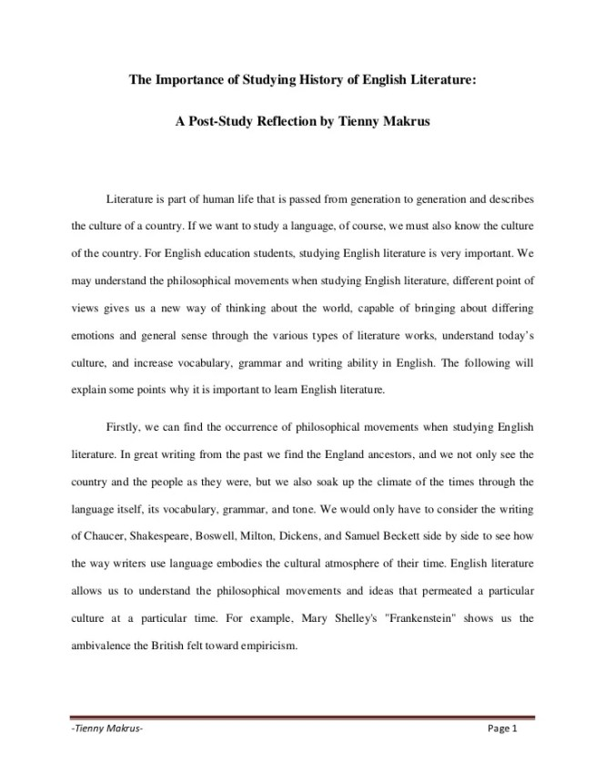 Apa Format Sample Paper Essay Some Reasons Why Learning English Language Is So Important English Essay Structure also Argument Essay Thesis Statement The Importance Of Studying English Essay  Best Import  Thesis Statements For Argumentative Essays