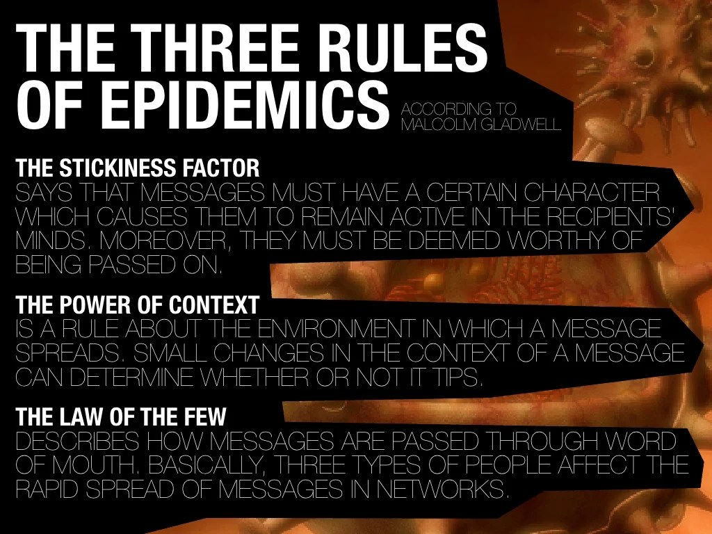 THE THREE RULES OF EPIDEMICS