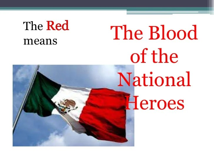 the meaning of color of the mexican flag