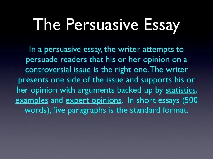 Persuasive Essay Defined | Poemsrom.co
