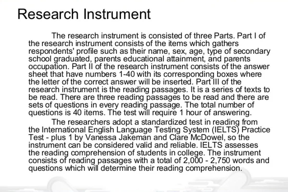Thesis Sample Chapter 10 Research Instrument – NEUCONTE19810 BLOG