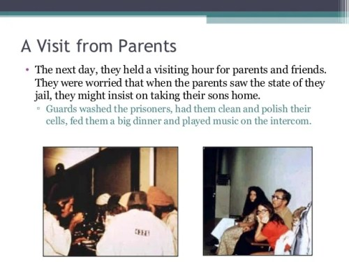 A Visit from Parents • The next day, they held a visiting hour for parents and friends. They were worried that when the pa...