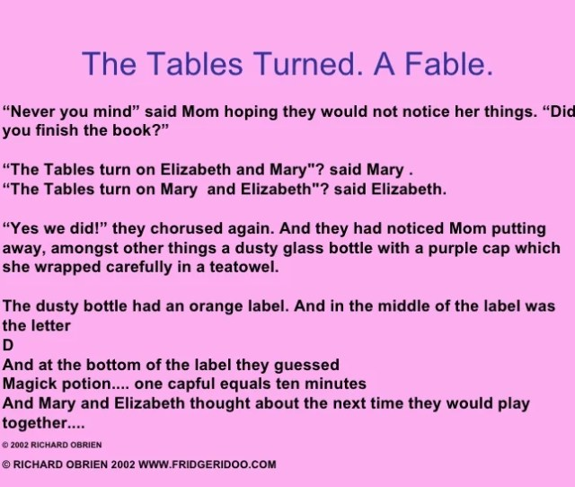 34 The Tables Turned