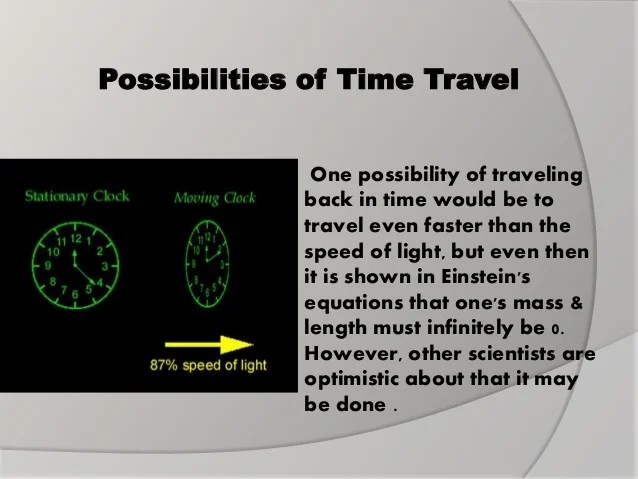 Image result for The Possibilities of Time Travel